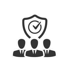 Employers insurance icon vector