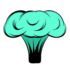 Explosion of nuclear bomb icon cartoon vector