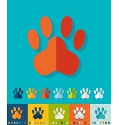 Flat design footprint vector image