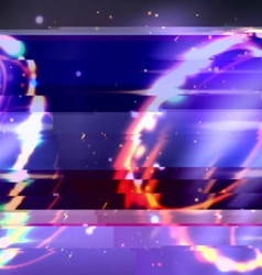 Glitch art background vector
