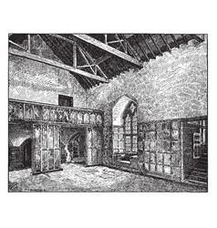 Gothic architecture banquet hall gothic vector