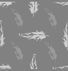 gray grunge bird feathers seamless pattern vector image