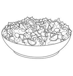 greek salad or horiatiki salad proper nutrition vector image