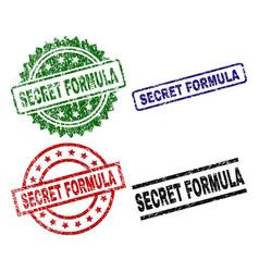 Grunge textured secret formula seal stamps vector
