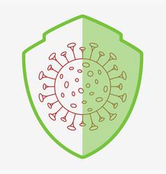 Guarding from virus icon coronavirus vector