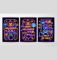 halloween flyer concepts vector image