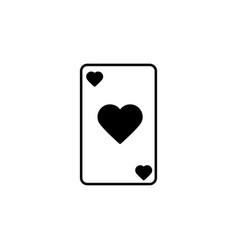 hearts card icon vector image