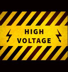 high voltage warning plate old danger sign vector image