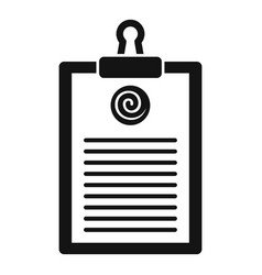 Hypnosis clipboard icon simple style vector