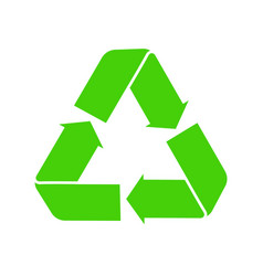 Icon recycle green symbol reuse logo vector