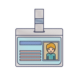 Identification card with half body guy picture vector