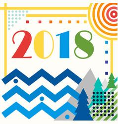 image logo figure 2018 vector image