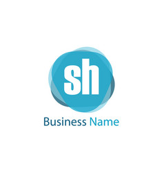 Initial letter sh logo template design vector