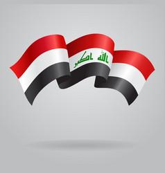 Iraqi waving Flag vector