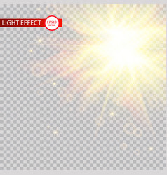 lens flare light effect sun rays with beams vector image