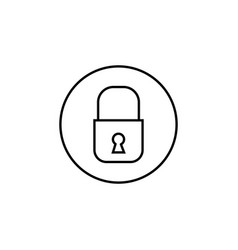 lock line icon mobile sign and security vector image