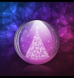 Luminescent snow globe vector image