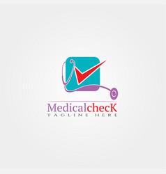 Medical check icon template creative logo design vector