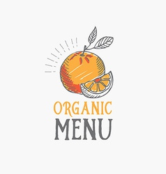 Menu logo template vintage badge food design vector