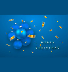 merry christmas or new year greeting card holiday vector image