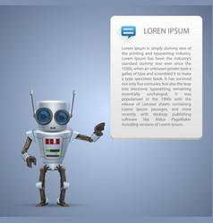 Metal robot advert vector