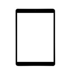 Modern black tablet computer mockup vector