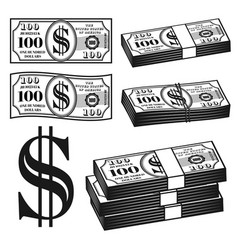 Money different variants objects elements vector