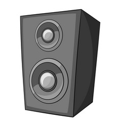 music speaker icon monochrome vector image