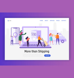 Online shopping fast worldwide shipping service vector