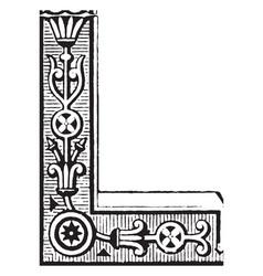 Ornate corner is a antic pattern vintage engraving vector