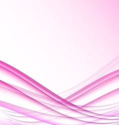 Pink and white waves modern futuristic abstract vector