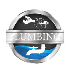 plumbing and water system vector image