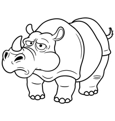 Rino outline vector image