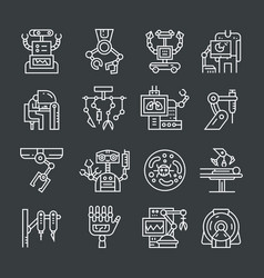 robotic surgery icons vector image