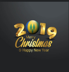 Saint vincent and grenadines flag 2019 merry vector
