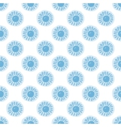 Seamless pattern floral ornament background vector image