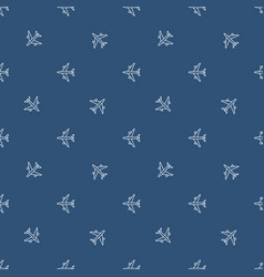 seamless plane pattern vector image