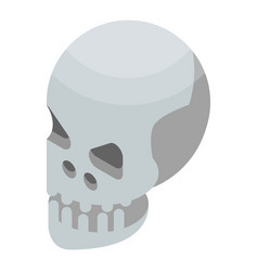 skull icon isometric style vector image