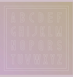 stylish font modern english alphabet thin vector image