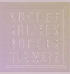 stylish font modern english alphabet thin vector image