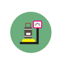 Stylish icon in color circle luggage weighing vector