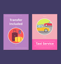 Taxi service in hotel with included transfer vector