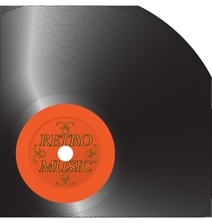 The old record vector image