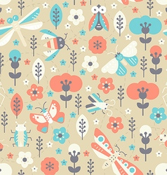 Vintage Bug Pattern vector