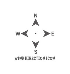 wind direction north south west east icon simple vector image