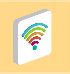 wireless wifi computer symbol vector image