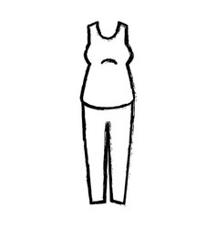 woman dress casual icon vector image
