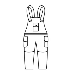 Work trousers icon outline style vector