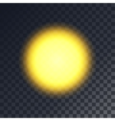 Yellow sun vector