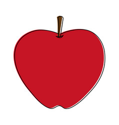 apple whole fruit icon image vector image